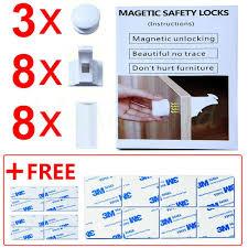 11 pcs magnetic cabinet locks baby safety set 8 locks 3 keys