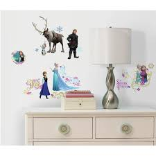 wall decals walmart com frozen peel and stick wall decals
