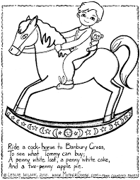 mother goose nursery rhymes coloring pages 398767