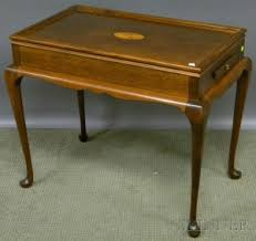 tray top end table search all lots skinner auctioneers