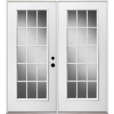 lowes patio french doors exterior door decoration reliabilt 71 375 in 15 lite glass unfinished steel french inswing patio door