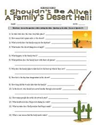 i shouldn u0027t be alive a family u0027s desert hell video worksheet tpt