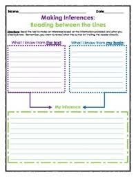graphic organizer making inferences by the teacher treasury tpt