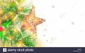 beautiful christmas border isolated on white background festive