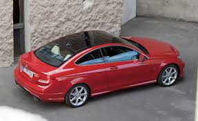 bagged mercedes c class mercedes c class coupe red topview mercedes c class coupe