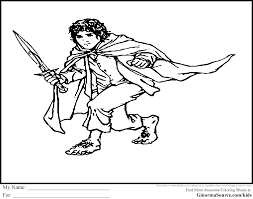 the hobbit coloring pages bilbo baggins coloring pages