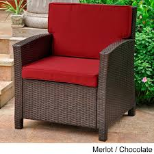 Outdoor Armchair Cushions Lisbon Outdoor Resin Wicker Contemporary Chair With Corded