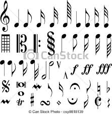 pretty music notes drawings