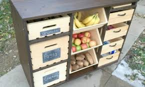 build a mobile kitchen island unit with timber crate pantry