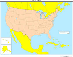 map of us map of mexico and the united states major tourist in us