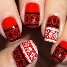 red and black nail ideas
