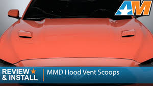 2015 2017 mustang gt mmd hood vent scoops review u0026 install youtube
