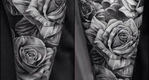 black and grey rose tattoos black and grey rose sleeve tattoo