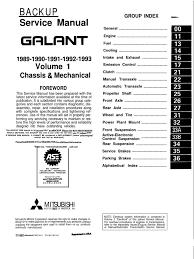 mitsubishi galant lancer wiring diagrams 1994 2003