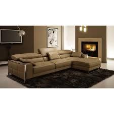 canape cuir discount canapé d angle design en cuir beige sheyla achat vente canapé
