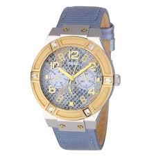montre guess bracelet cuir images Guess montre quartz w0289l2 bracelet cuir femme bleu chic achat jpg