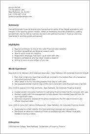 corporate resume template corporate resume sles corporate financial analyst yralaska