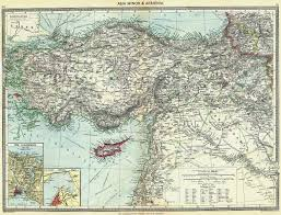 smyrna map turkey minor armenia maps of bosphorus smyrna 1907 antique