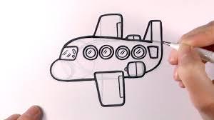 how to draw a cartoon plane youtube