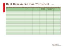 Life Planning Worksheet How To Use A Debt Repayment Plan Worksheet