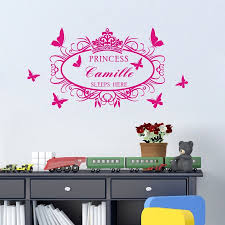sticker tatoo picture more detailed about sell like hot sell like hot cakes custom sleeps here with his kid princess girl name vinyl wall