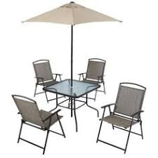 6 Piece Patio Set by Sevilla 6 Piece Sling Folding Patio Dining Set Blue Seats 4