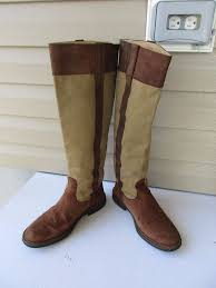womens brown leather boots size 9 cer boots size 39 9 brown canvas leather knee high