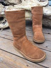 s suede ankle boots size 9 ugg australia bonham caramel sheepskin fully lined ankle boots