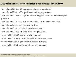 Sample Resume Logistics Coordinator by Top 5 Logistics Coordinator Cover Letter Samples