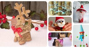 6 different adorable cork ornament craft projects