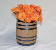 Flower Vases Centerpieces Whiskey Wine Oak Barrel Centerpiece Flower Vase For Wedding Or