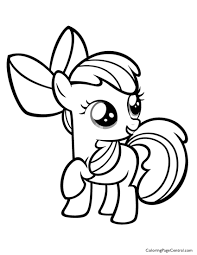 my little pony u2013 apple bloom 01 coloring page coloring page central