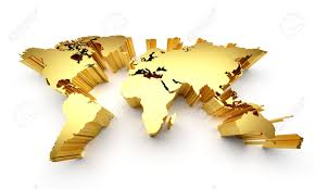 World Map Wall Decal by World Map Wall Decal Within Gold Map Gold World Map Spainforum Me