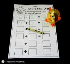 spring math games with dice the kindergarten connection