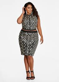 pencil skirts plus size skirts pencil skirt with sequin and geo design on front