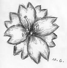 coloring pages magnificent cute flower drawings sketches drawing
