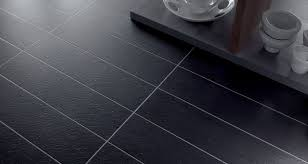 Black Slate Laminate Flooring Black Vinyl Kitchen Flooring Outofhome