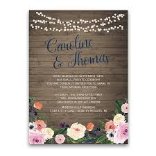 reception only invitations watercolor floral bohemian wedding reception only invite