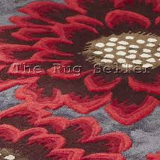 unique poppy rugs in grey red free uk delivery the rug seller