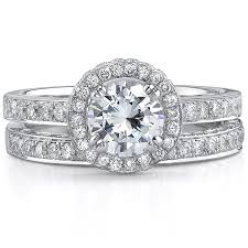 white gold bridal sets natalie k 14k white gold diamond halo br