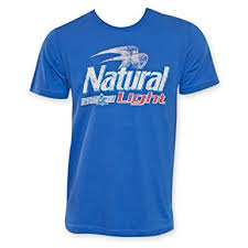 natty light t shirt amazon com natural light men s logo t shirt clothing