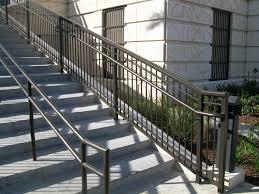 aluminum handrails for concrete steps wrought iron stair railing