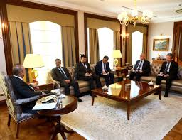 Ambassador Dining Room Foreign Minister Mevlüt çavuşoğlu Received Ambassador Of Pakistan