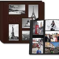 travel photo albums pioneer collage frame embossed leatherette travel scrapbook 12x12