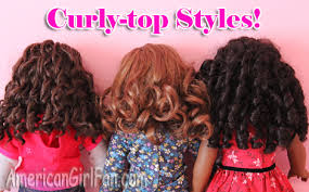 cute girl hairstyles rag curls hairstyles for curly american girl doll hair americangirlfan