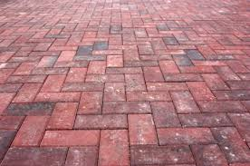 Herringbone Brick Patio Greenweaver Landscapes Llc