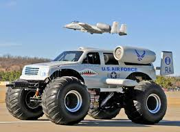 monster truck farm show weighing in at 10 000 pounds this a 10 vehicle replica has become