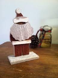 primitive wooden santa wooden santa candle box wood craft