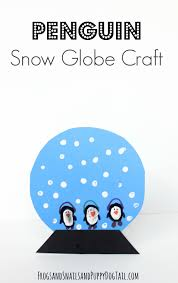 penguin snow globe craft for kids fspdt