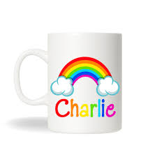 mug personalized rainbow cup personalized mugs rainbow cup